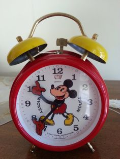 Vintage Mickey Mouse Alarm Clock Walt Disney by MyYiayiaHadThat, $100.00