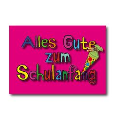 "Grußkarten ""ZUM SCHULANFANG"" nur 2,45 EUR/Stück"