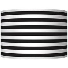 Black Horizontal Stripe Giclee Shade 12x12x8.5 (Spider) - Amazon.com
