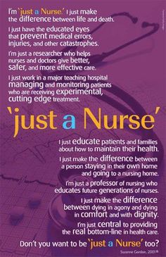"Thanks to all of the nurses who are ""Just Nurses!"""