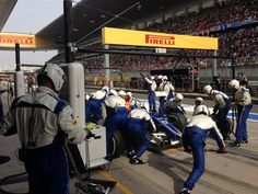 The Sauber boys in action at Shanghai