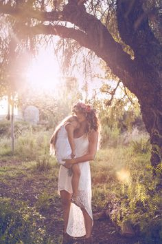 boho bride and babe | flower crown