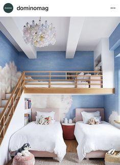 Girls Bedroom, Bedroom Decor, Bedroom Ideas, Kids Bedroom Designs, Bunk Rooms, Bunk Beds, Shared Bedrooms, Bedroom Layouts, Interior Design