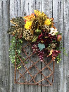 All year around Grapevine Wreath Fall by CarolaFlowerDesigns