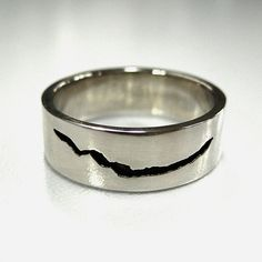 Dr Who inspired Crack in Space and Time Ring Sterling Silver