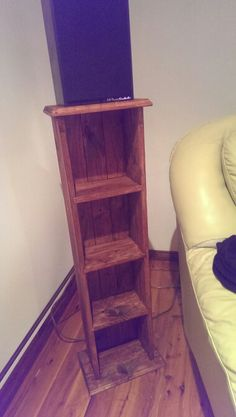 Recycled timber speaker stand
