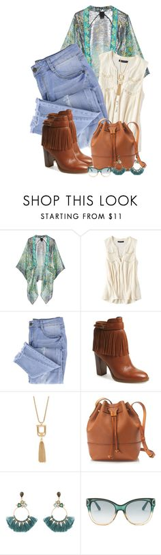 """""""21/06/02017"""" by daianetavares310 on Polyvore featuring moda, Anna Sui, American Eagle Outfitters, Essie, Ivanka Trump, Forever 21, J.Crew, Atelier Mon e Gucci"""