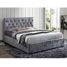 Birlea Cologne Upholstered Steel Kingsize Bed
