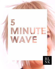 How to curl your hair in 5 minutes or less.