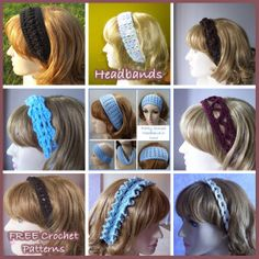 Crochet Headband Patterns free-lots of free patterns on this site