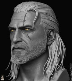 CGTalk - Geralt of Rivia done for custom witcher series of action figures, Hossein Diba (3D)
