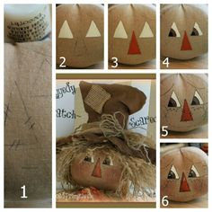 Super Easy Painted Face Tutorial-Raggedy Tutorial,Ragdoll Face Tutorial,Old Road Primitives,Pattern, Scarecrow Face, Scarecrow Crafts, Fall Scarecrows, Scarecrow Ideas, Autumn Crafts, Holiday Crafts, Fall Halloween, Halloween Crafts, Halloween Stuff