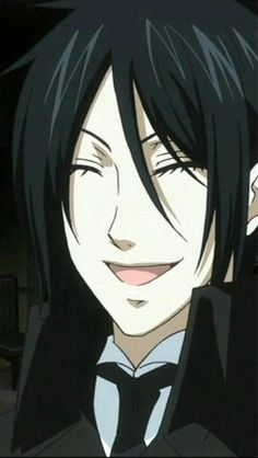 That smile *-* I love you Sebastian Michaelis♥(((back off he's mine.. and so is claude, will and grell <3.<3