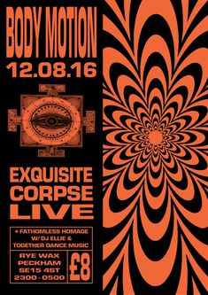 RA Tickets: Body Motion with Exquisite Corpse [Live] at Rye Wax, London