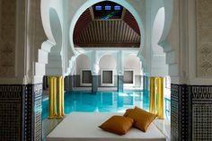 Most Beautifully Designed Spas Around the World Mamounia Spa at Morocco's La Mamounia hotel. One of AD's 11 most beautifully designed spas in the worldMamounia Spa at Morocco's La Mamounia hotel. One of AD's 11 most beautifully designed spas in the world Mamounia Marrakech, Riads In Marrakech, Marrakech Morocco, Morocco Hotel, Marrakech Hotels, Morocco Travel, Spas, Piscina Do Hotel, Best Honeymoon Destinations