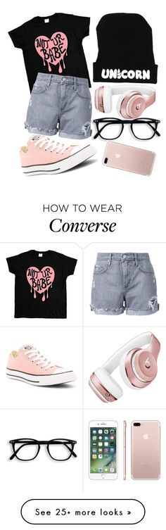 """""""Rose Gold x"""" by mriss-abbrie on Polyvore featuring Nobody Denim, Converse and Beats by Dr. Dre"""