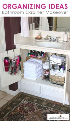Bathroom Cabinet Organization by Living Locurto