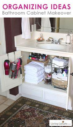 Bathroom Cabinet Organization by Living Locurto