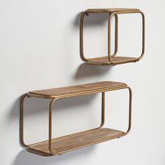 Brass & Wood Wall Storage - World Market