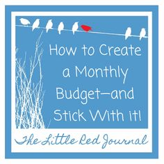 The Little Red Journal: How to Create a Monthly Budget—and Stick With it! | #debt #minimalism #money #budget