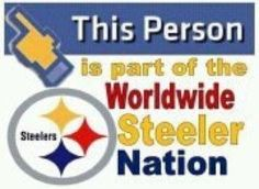 Steeler Nation! Cowboys may be America's team, but The Steelers are America's Heartbeat!! Chevrolet, Apple Pie, and The Pittsburgh Steelers!!!