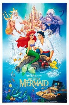 The Little Mermaid Walt Disney Poster SP Published, # 1668 Disney Pixar, Walt Disney Animation, Disney Films, Disney Cinema, Disney Amor, Disney Movie Posters, Disney Love, Disney Magic, Disney Characters