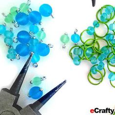 DIY Sea Glass Beaded Chain Maille Bracelet Recipe from eCrafty.com | Simple illustrated instructions, supplies list and savings coupon included! Happy creating from all of us at eCrafty.com! #coupons #crafts #beading #diyjewelry