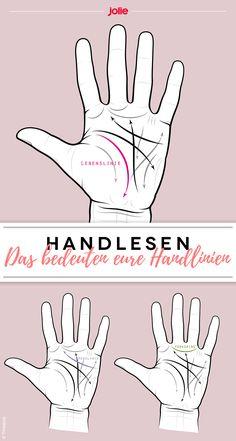 Handlesen: Das bedeuten eure Handlinien Tarot, Palmistry, Wicca, Witchcraft, Life Hacks, Meditation, Hands, Yoga, Sneaker