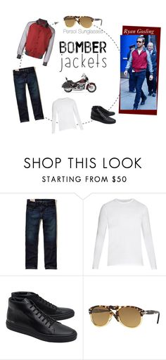 """""""Ryan Gosling Fall Style"""" by visiondirect ❤ liked on Polyvore featuring Hollister Co., Derek Rose, Common Projects, Persol, Harley-Davidson, men's fashion and menswear"""