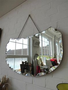 Vintage Large Bevelled Edge Art Deco Wall Mirror by uulipolli