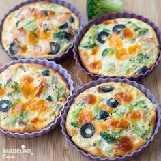 Mini Quiches, Weekly Menu, Broccoli, Low Carb, Keto, Breakfast, Food, Salads, Morning Coffee