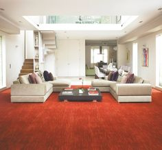 Striata in Ventura. Available at Rodgers of York. Parker Knoll, Axminster Carpets, Living Room Carpet, Revenge, Couch, Flooring, York, Inspiration, Furniture