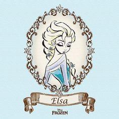 Elsa from Disney's Frozen Arte Disney, Disney Art, Disney Films, Disney And Dreamworks, Elsa Frozen, Disney Frozen, Anna Und Elsa, Elsa Elsa, Frozen Fan Art
