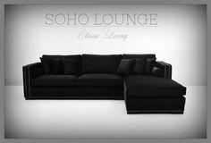 """Vi lanserer nyheten """"SOHA LOUNGE"""" Sofa.   Soho Lounge sofa er en lekker sjeselongsofa trukket i delikat sort velour. Sofaen har et klassisk og tidløst design med faste ryggputer rette linjer og nagler i børstet stål. 8 stk. løse puter medfølger. Fyllet i sete- og ryggputene er nøye utvalgt med tanke på komfort og varighet.  Intropris: 15500-   for mer informasjon se http://ift.tt/2g96OsB #classicliving #interiør"""