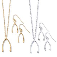 Make a wish! Necklace and earring set that has a wishbone pendant with matching earrings. Regularly $16.99, buy Avon Jewelry online at http://eseagren.avonrepresentative.com