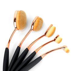 Aliexpress.com: Comprar Mileegirl 5 unids Oval Pincel de Maquillaje, Cosmética Blush Powder Eyeshadow Fundación sistema de Cepillo Del Maquillaje cepillo de Dientes de sistema de cepillo del maquillaje fiable proveedores en Mileegirl Trend Store