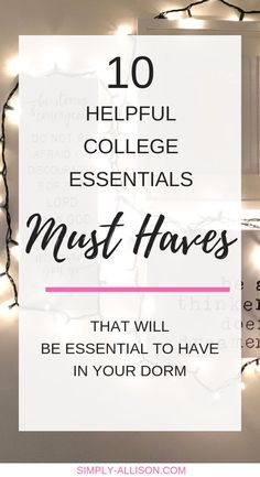 2019 College Essentials (must haves) This is my list of top 10 college dorm esse. 2019 College Essentials (must haves) This is my list of top 10 college dorm essentials. I feel that