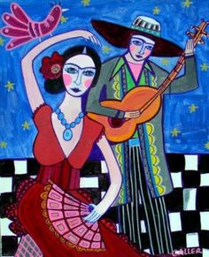 8x10 Mexican Folk Art Art Panel Print by HeatherGallerArt on Etsy, $24.99