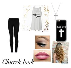 """""""Church look"""" by xfangirllife on Polyvore featuring Casetify, Wolford, David Yurman and TheBalm"""