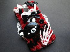 Creepy Cute Decoden Case for Motorola Moto G Gen by Mintyholic Kawaii Phone Case, Decoden Phone Case, Diy Phone Case, Cute Cases, Cute Phone Cases, Iphone Cases, Biscuit, Newest Cell Phones, Creepy Cute