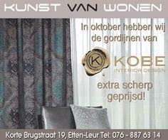 Artelux , Toppoint , Ado , Egger , Dekortex , Kobe , Jb art , Prestious textiles  , Holland Haag , online te koop www.onlinegordijnenshop.nl