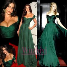 Dark Green Evening Dresses Off the Shoulder Long Celebrity Dresses Sexy Formal Gown robe soiree long dresses