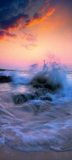 Limited Edition Fine Art Photograph by Peter Lik. Landscape photo of the sun setting on waves crashing on the rocks and beach off of The Big Island, Hawaii No Wave, Beautiful Sunset, Beautiful World, Beautiful Places, Stunningly Beautiful, Cool Pictures, Cool Photos, Beautiful Pictures, All Nature