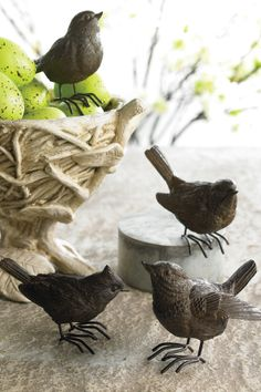 Adorable spring birds decor.