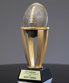 Show details for Tower Football Trophy Football Trophies, Tower, Computer Case, Towers, Building