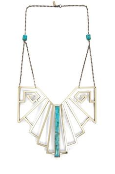 fall 2012 pamela love wrought iron breastplate in turquoise