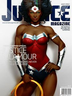 Nubia Wonder Woman - Justice Magazine - July 2012 Issue