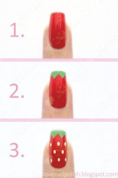 Looking for a cute way to spice up your manicure? This cute pattern is a sure fire way to create a unique and pretty nail art design. Below are 10 polka dot nail art ideas that will will add the perfect pop to your look. Cute Nail Art, Nail Art Diy, Easy Nail Art, Diy Nails, Cute Nails, Trendy Nail Art, Diy Ongles, Nail Art Vernis, Strawberry Nail Art
