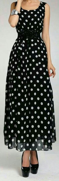 Would be awesome in a midi length. Doesn't have to be polka dots or black & white.