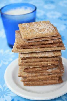 Vegan Yum Yum's graham crackers--delicious and easy to make!